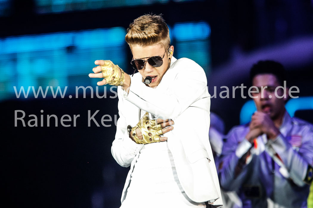 Justin Bieber bringt am 06. April 2013 die Lanxess Arena zum Beben