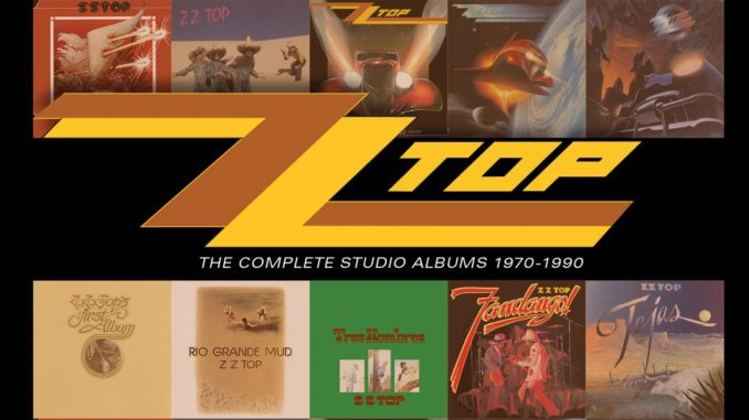 ZZ Top The Complete Studio Albums 1970-1990 CD Cover