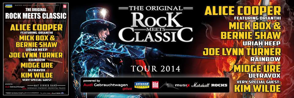 Rock meets classic 2014 Alice Cooper Kim Wilde Jahrhunderthalle Frankfurt