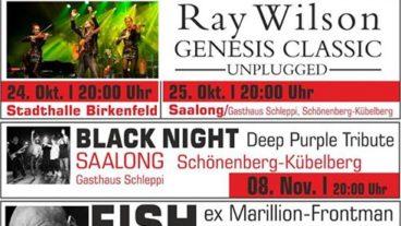 Herbstoffensive bei AndersWelt: Parsons & Thibaud, Ray Wilson und Fish in der Pfalz