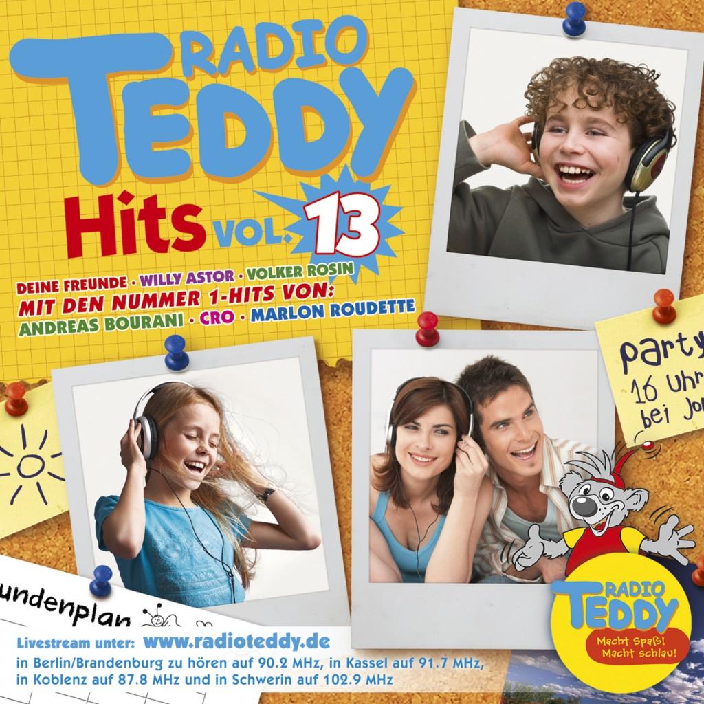 Radio Teddy Hits 13 macht Spaß und macht schlau ua mit Volker Rosin, Bosse, Elaiza und Otto