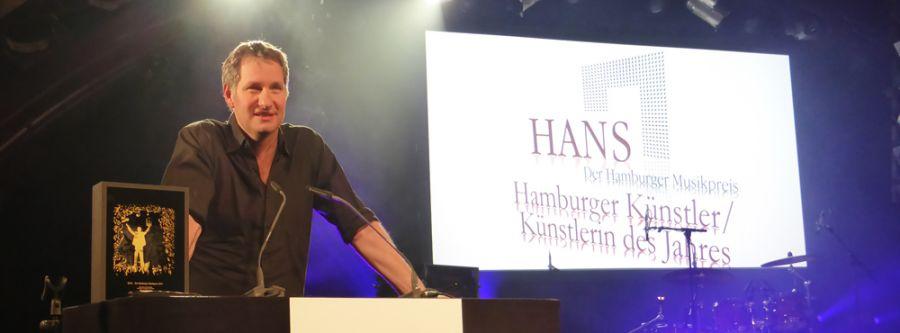 Marcus Wiebusch ist zweifacher Preisträger beim Hamburger Musikpreis HANS 2014