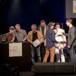 """Das Team um """"Deine Freunde"""", HANS Hamburger Musikpreis Verleihung, 26.11.2014, Markthalle Hamburg"""
