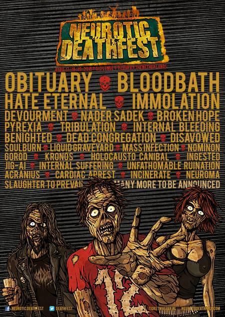 Neurotic Deathfest Flyer