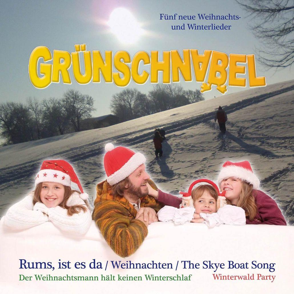 """Grünschnabel mit Weihnachts-Maxi-CD """"Rums, ist es da"""""""