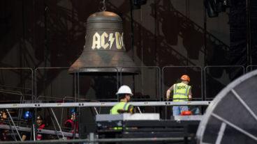 AC/DC – Aufbau der Bühne in Düsseldorf