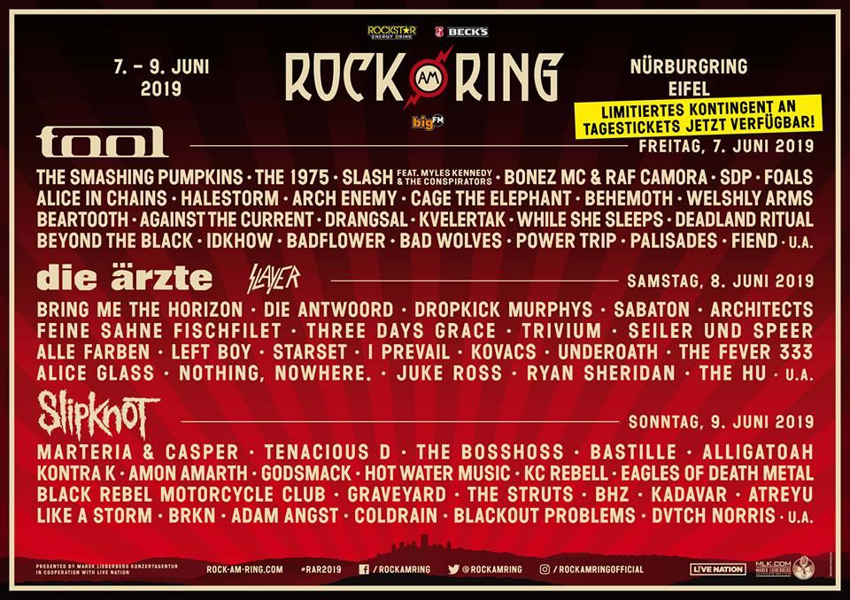 RAR 2019: Limitierte Anzahl an Tagestickets für Rock am Ring verfügbar