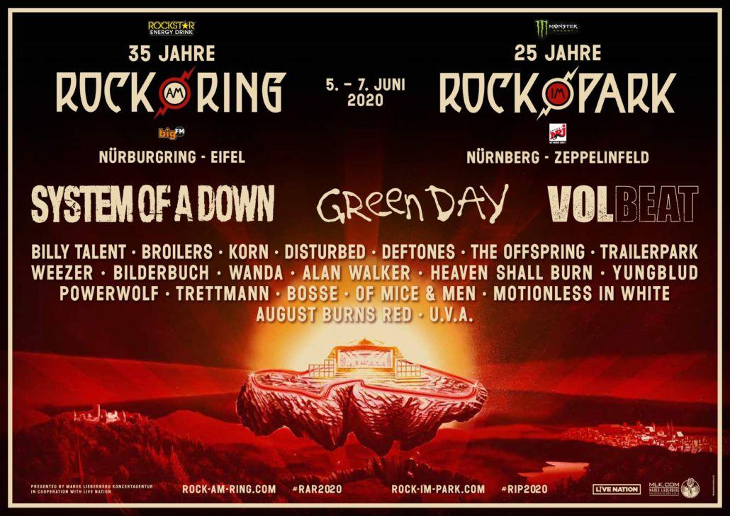 Rock am Ring 2020 – erste Bandwelle ist angerollt – es wird laut!