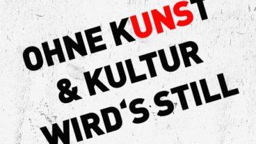 """""""Ohne Kunst & Kultur wird's still"""" – jetzt streamen!"""