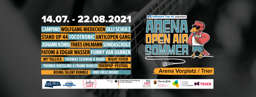 Arena Open Air Sommer in Trier – von MY'TALLICA bis Thees Uhlmann